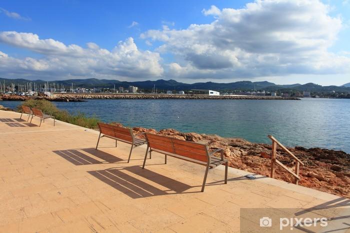 Pixerstick Aufkleber Promenade in Sant Antoni - Urlaub