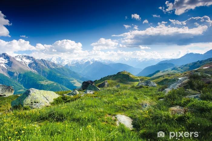 Papier peint vinyle Panorama matinal de la montagne - Thèmes
