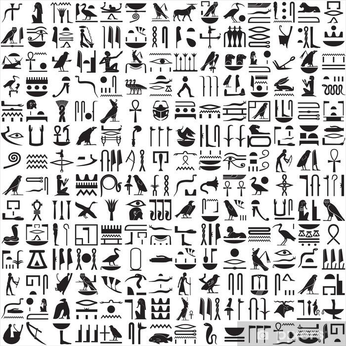 Vinilo Pixerstick Ancient jeroglíficos egipcios • Pixers® - Vivimos ...