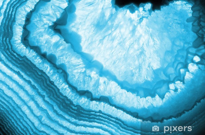blue agate background Vinyl Wall Mural - iStaging