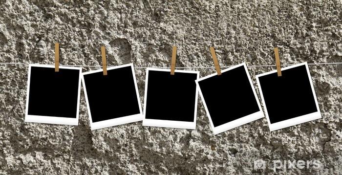 Nálepka Pixerstick Polaroid appese con mollette - Umění a tvorba
