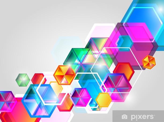 Pixerstick Aufkleber Abstrakte hellen Hintergrund - Zeichen und Symbole