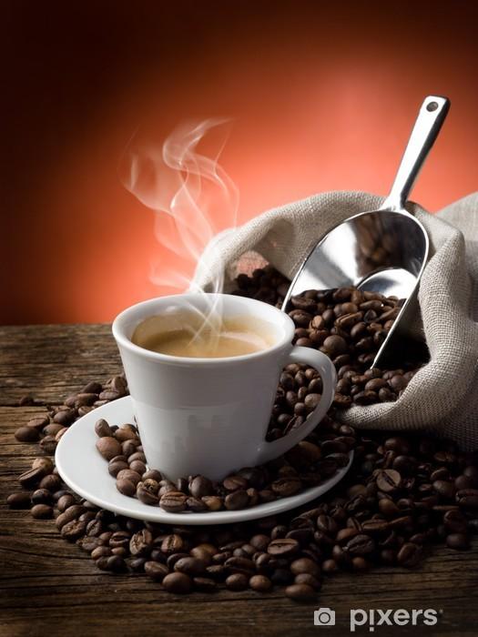 Zelfklevend Fotobehang Hete koffie - caffe Fumante - Koffie