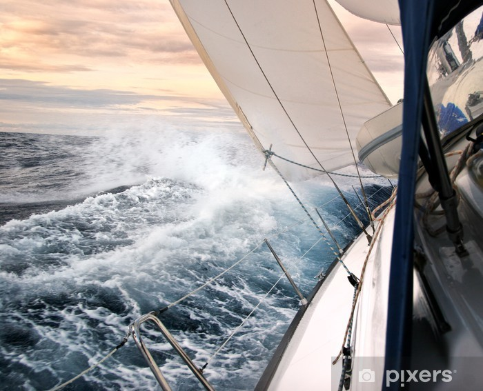 Fotomural Estándar Navegando en la luz del atardecer - Temas