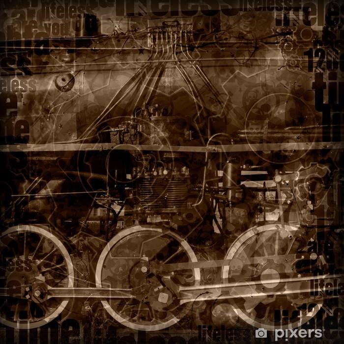 Plakat Ilustracja maszyny Steampunk - Steampunk
