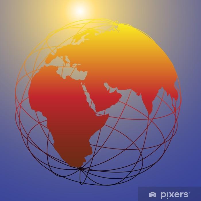 Fototapeta winylowa Globalne szkielet Eastern Glob jasne słońce - Znaki i symbole