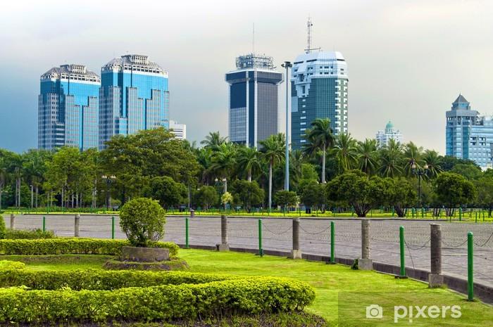 Jakarta Skyline Vinyl Wall Mural - Asia