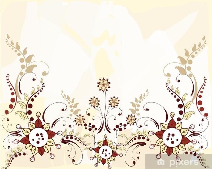 Sticker Pixerstick Motif floral frontière - Arrière plans