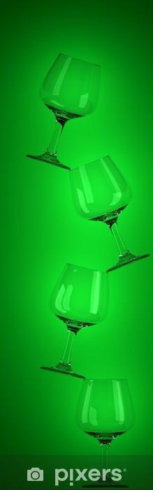tower of wine glasses Pixerstick Sticker - Accessories