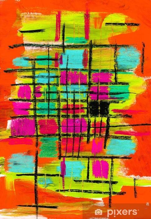 Nálepka Pixerstick Abstraktní mřížka - Abstraktní