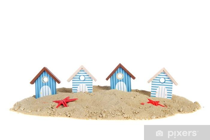Fototapeta Winylowa Domy Wiersz Plaży Na Wakacje