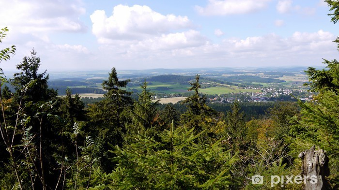Fototapeta winylowa Waldstein w Fichtelgebirge - Wakacje