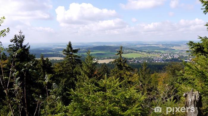 Vinilo Pixerstick Waldstein im Fichtelgebirge - Vacaciones