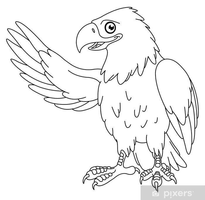 Fototapeta winylowa Kontury eagle - Naklejki na ścianę