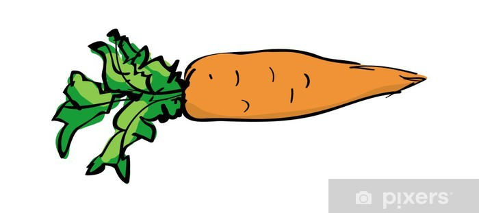 Vector Sketch Drawing Of A Carrot Sticker Pixers We Live To Change