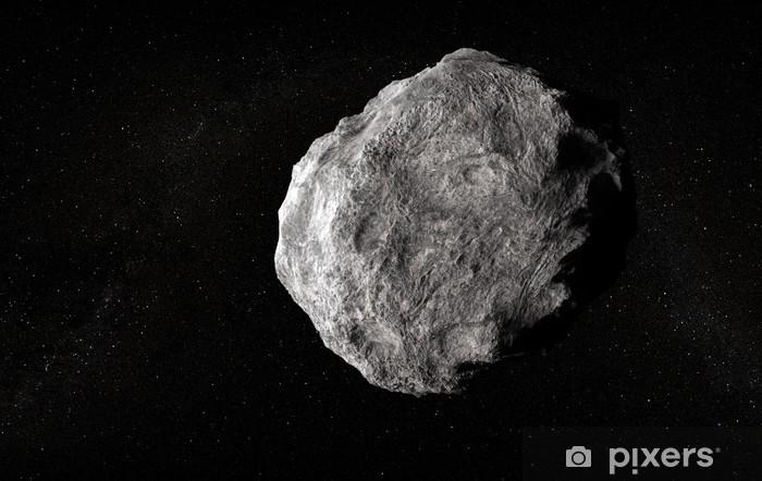 Naklejka Pixerstick Duża planetoida w pustej przestrzeni - Przestrzeń kosmiczna