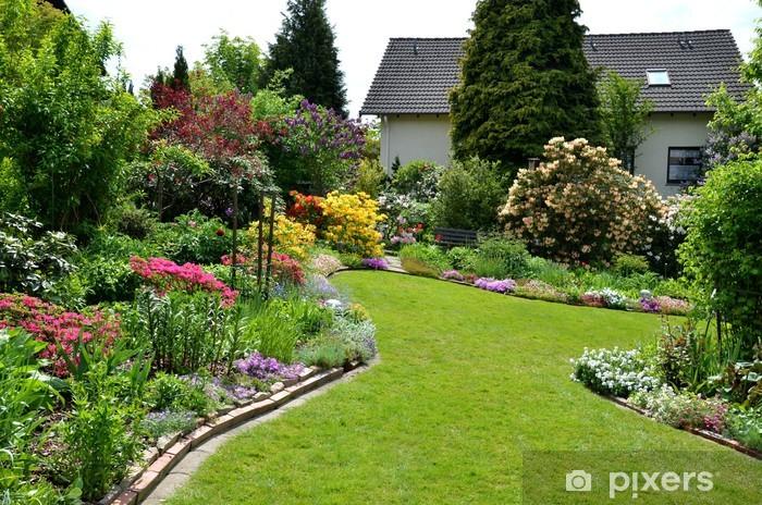 Papier peint vinyle Vue sur le jardin - Maisons et jardins