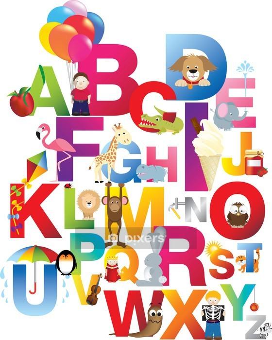 Vinilo para Pared Ilustración del alfabeto para niños - Temas
