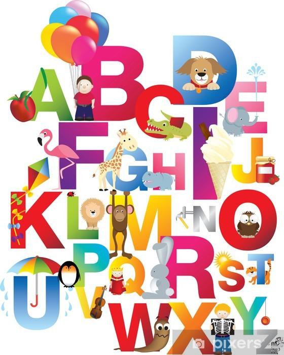 Sticker Pixerstick Illustration de l'alphabet pour enfants - Thèmes