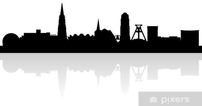 Skyline Von Bochum Sticker Pixerstick