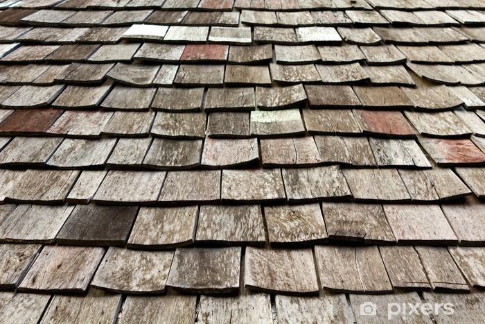 Sticker Pixerstick Ancien modèle de toit en bardeaux usés - Maisons et jardins