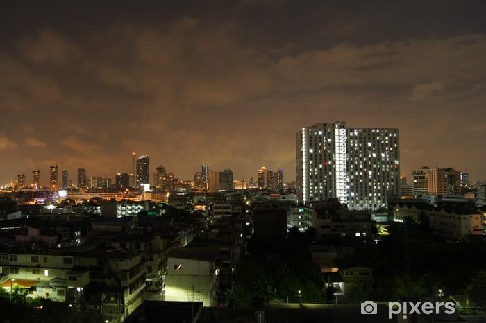Naklejka Pixerstick Bangkok w nocy - Pejzaż miejski