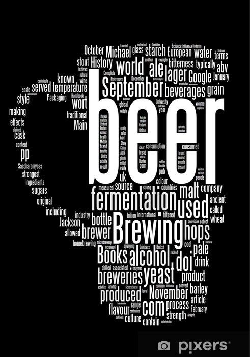 Naklejka Pixerstick Collage słowo piwo samodzielnie na czarnym N.2 - Znaki i symbole