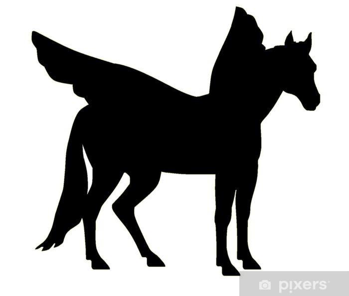 Plakat Majestatyczna sylwetka Pegasus - Fikcyjne zwierzęta