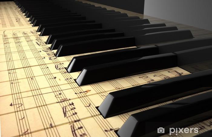 Papier peint vinyle Superficie moderne - Piano à queue