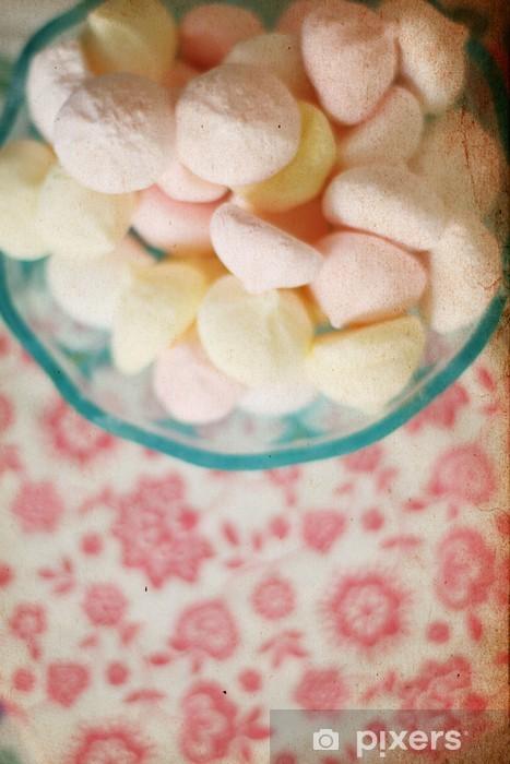 sweet candies with retro pattern, marshmallow Pixerstick Sticker - Styles