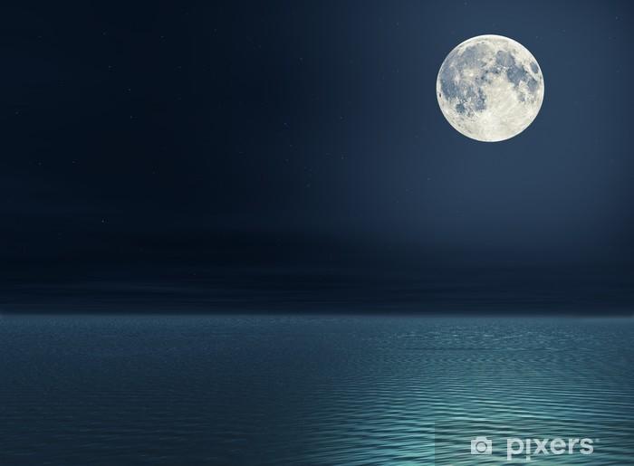Carta Da Parati La Luna Sul Mare Pixers Viviamo Per Il Cambiamento