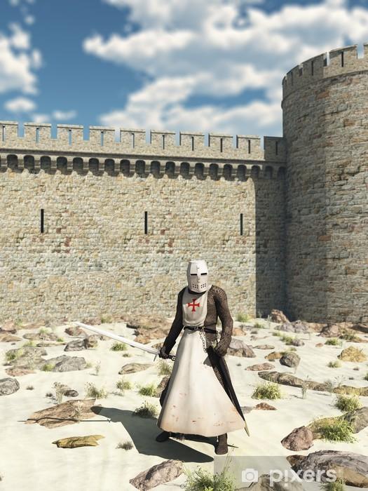 Papier peint vinyle Knight Templar en dehors des murs d'Antioche - Chevaliers