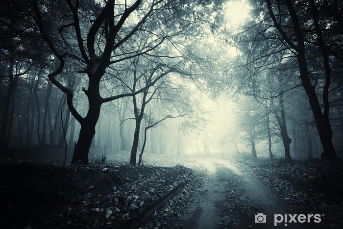 Carta da Parati in Vinile Percorso nella foresta oscura - Temi