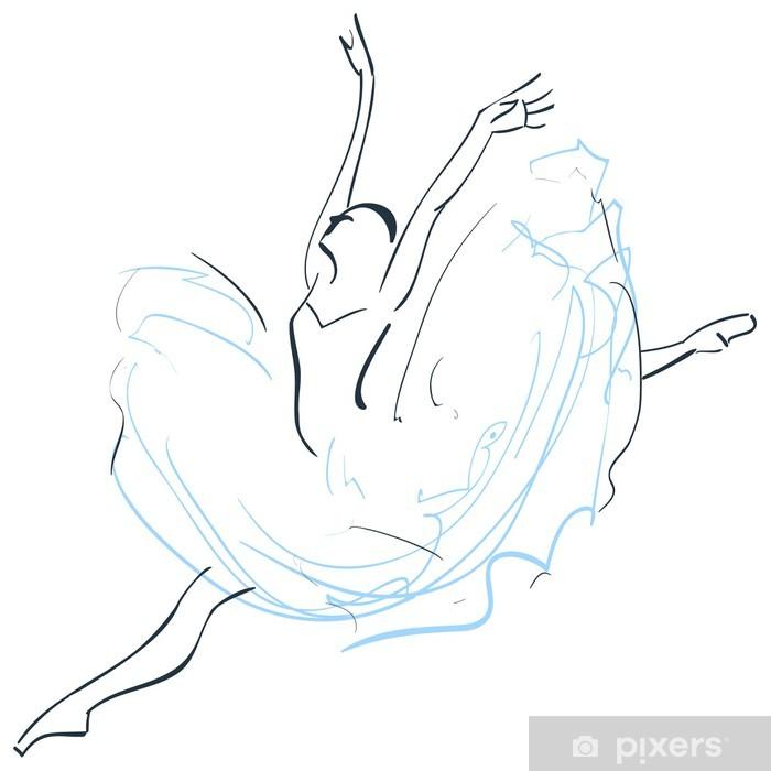 Naklejka Pixerstick Balerina - Sporty indywidualne