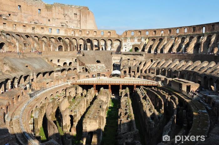 Vinilo Pixerstick Coliseo Romano Antiguo En Roma Italia Pixers