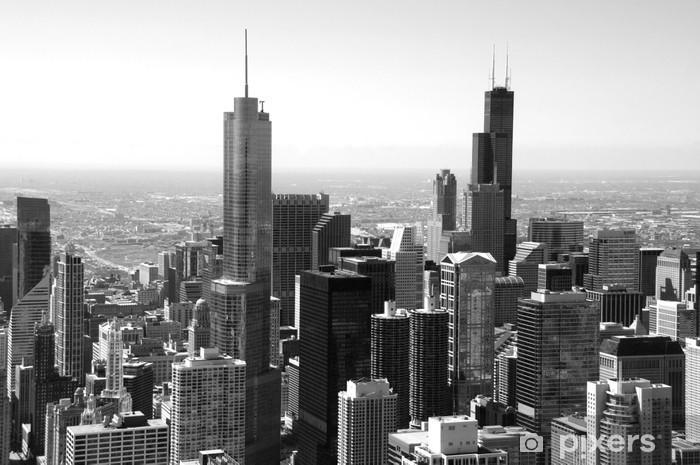 Chicago Skyline Wall Mural Pixers