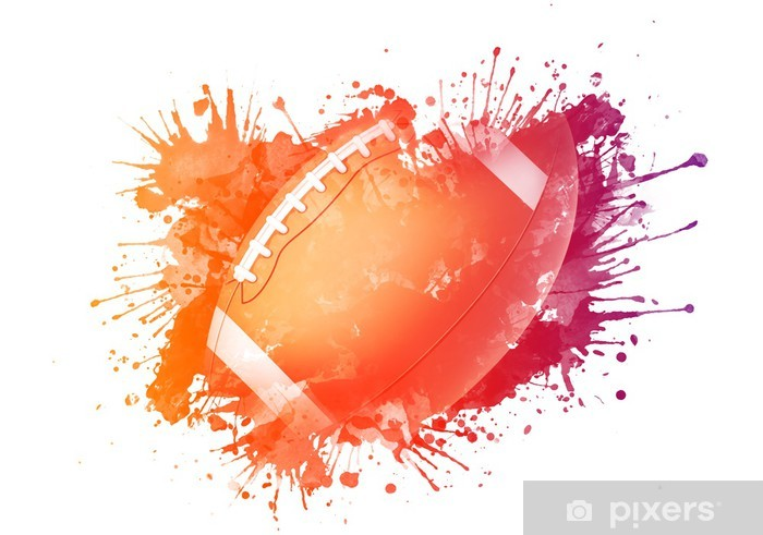 Adesivo Pixerstick American football pallone - Football Americano