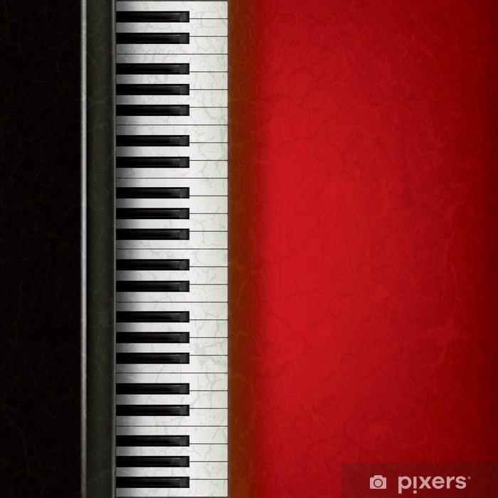 Papier peint vinyle Fond de musique abstraite avec le piano - Arrière plans