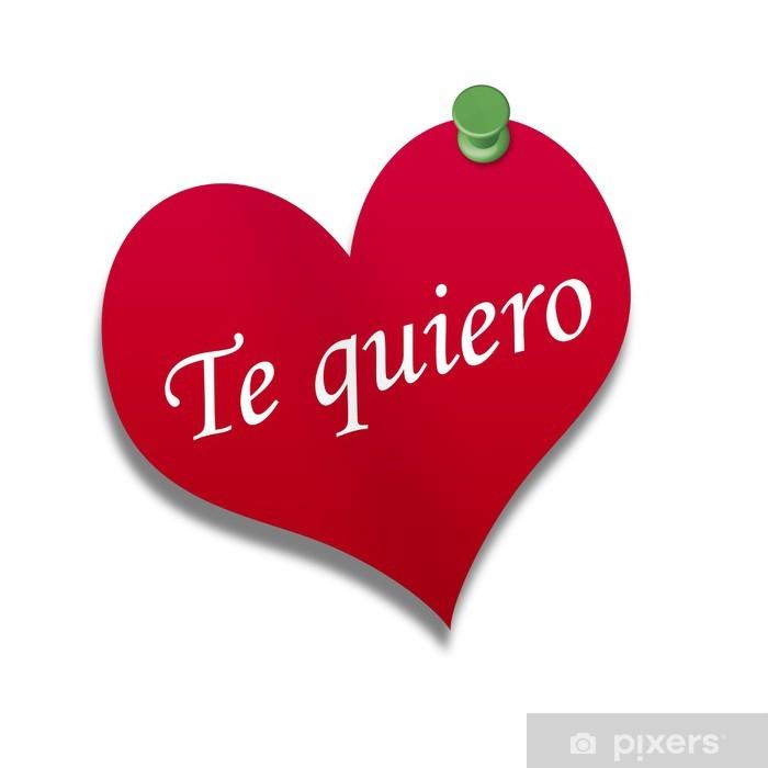 Aufkleber Corazón De Papel Texto Te Quiero Pixers Wir Leben