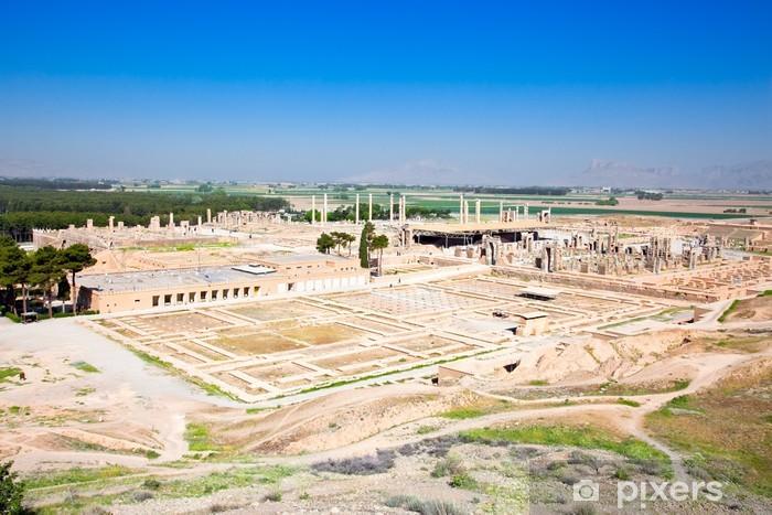 Sticker Pixerstick Vue panoramique sur les ruines de Persépolis ancienne - Asie