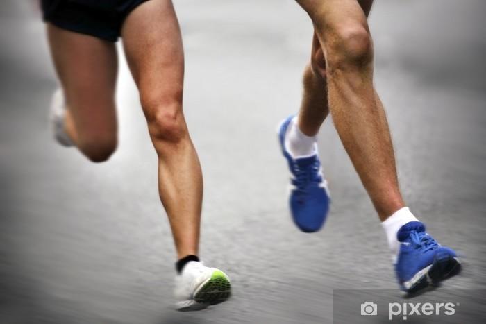 Naklejka Pixerstick Marathon runners - niewyraźne ruchu - Tematy