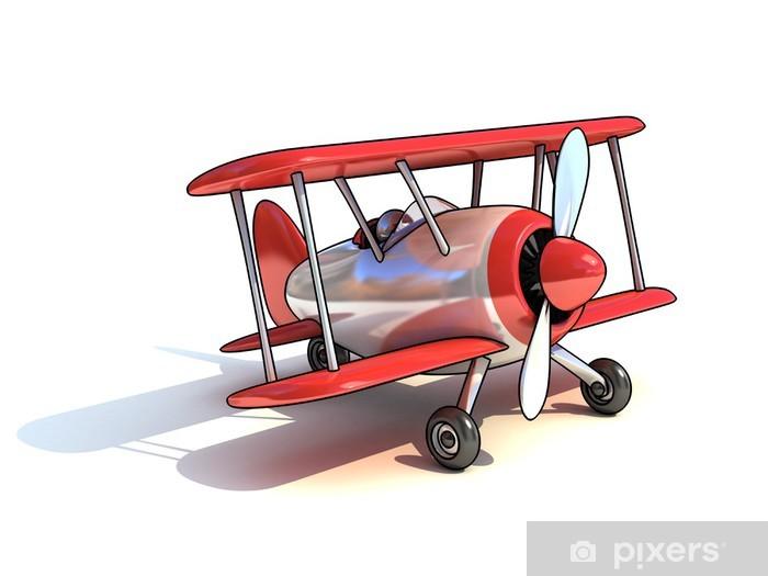 Carta da parati cartone animato come illustrazione di aeroplano 3d