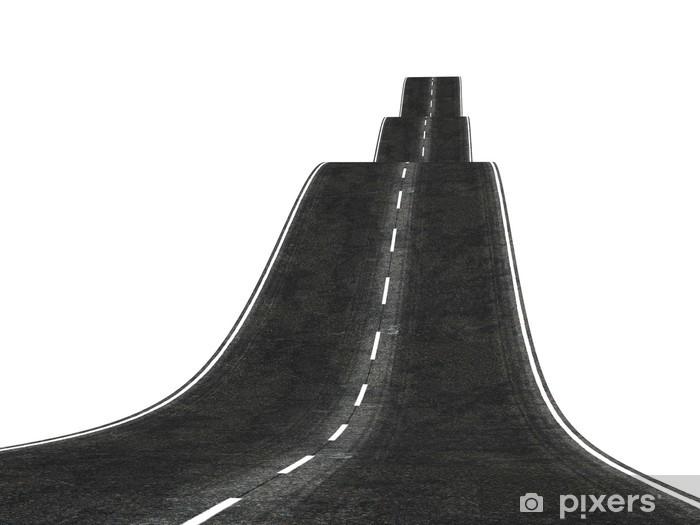 Fototapeta winylowa Faliste 3d droga znika za horyzontem - Infrastruktura