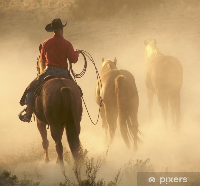 Mural de Parede em Vinil bringing the horses in - Mamíferos