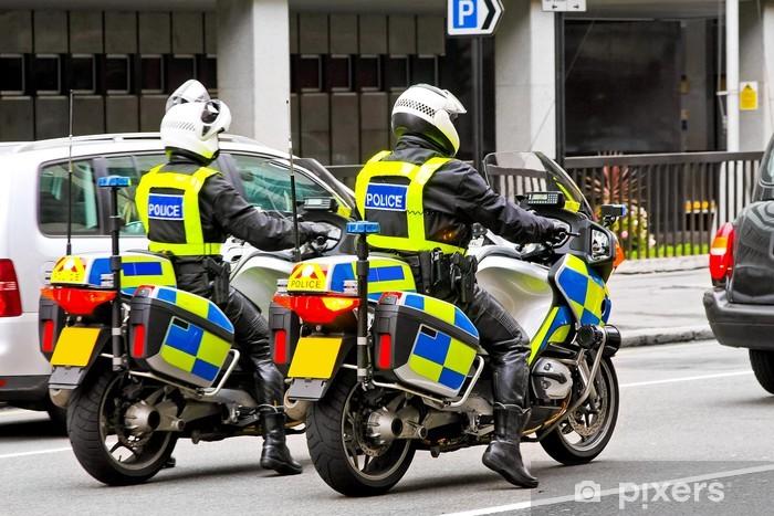 Motorbike police Sticker - Pixerstick
