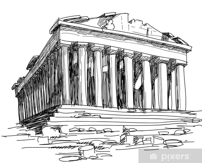 Fotomural Estándar Grecia Parthenon sketch - Temas