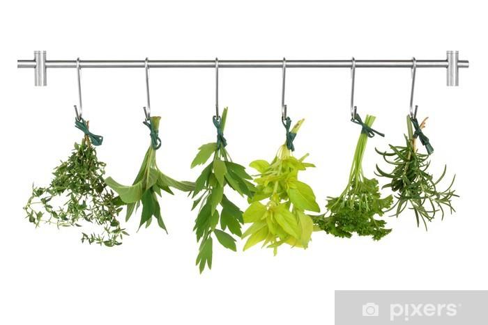 Adesivo Pixerstick Herb Foglie di essiccazione - Erbe