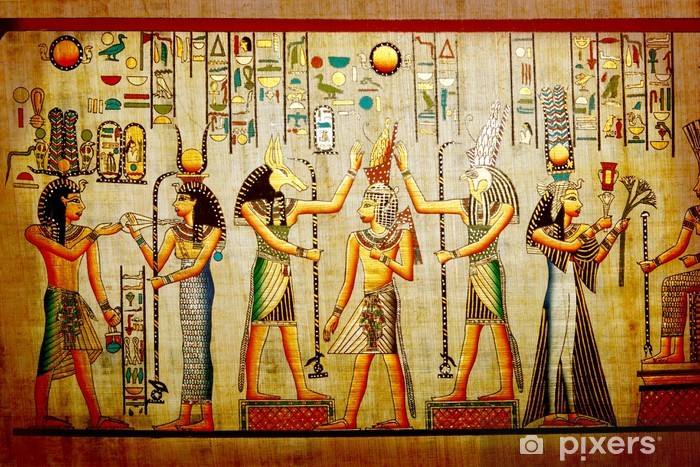 Papyrus. Old natural paper from Egypt Pixerstick Sticker - iStaging