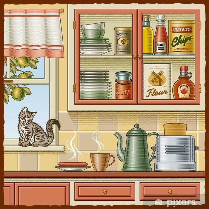 Fototapete Küche retro