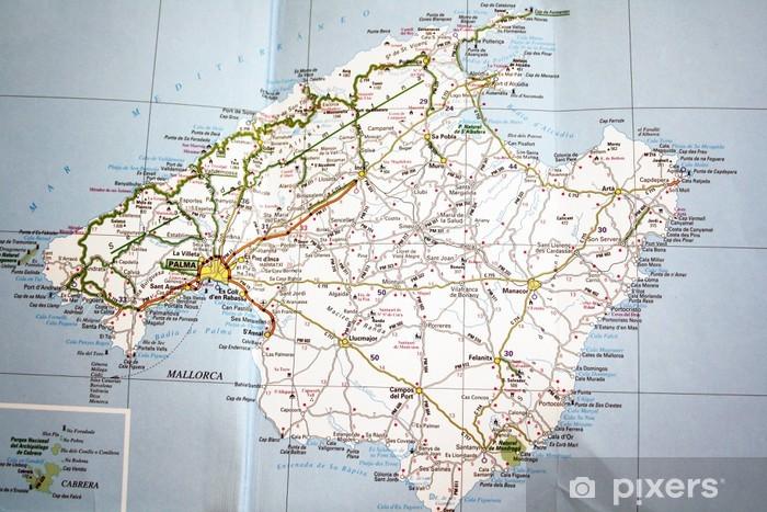 Fotomural Estándar Mapa de Mallorca - Temas